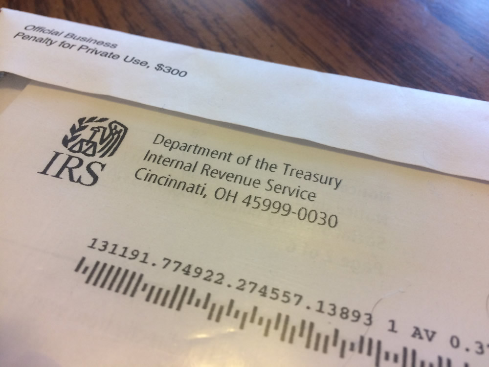 IRS Letter Certified Mail