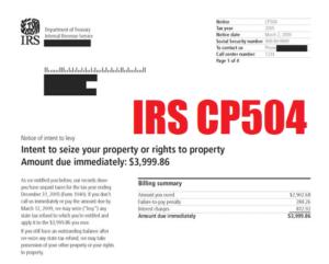 irs cp504 notice